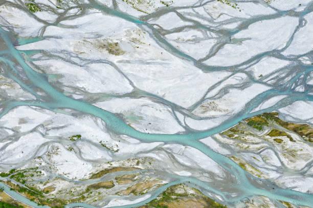 Fåbergstølsgrandane Sandur River Delta, Jostedalen National Park, Norway stock photo
