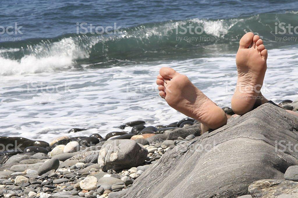 Füße hoch royalty-free stock photo
