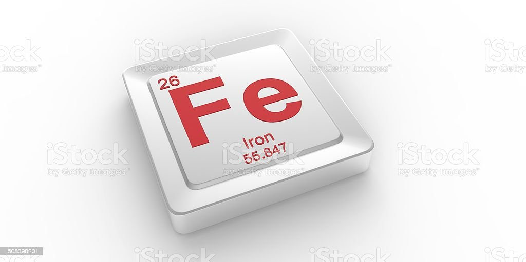 Fe Symbol 26 Material For Iron Chemical Element Stock Photo More