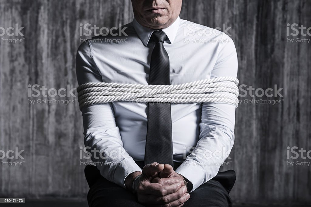 Fear and hopelessness. stock photo