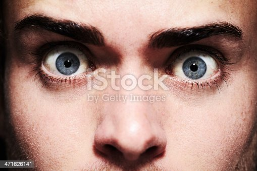 istock Fear in his eyes 471626141