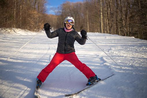 Fear in ski