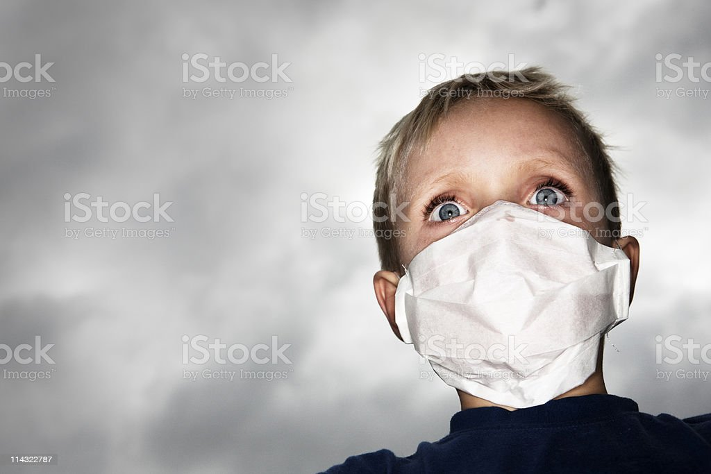 Fear of epidemic royalty-free stock photo