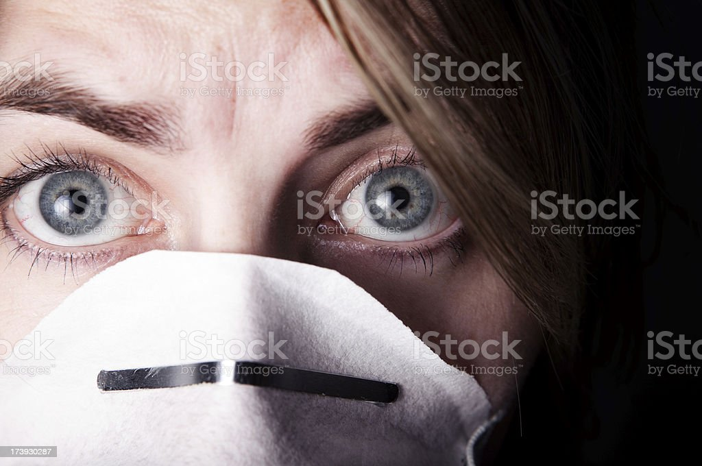 Fear Of Flu Germs royalty-free stock photo