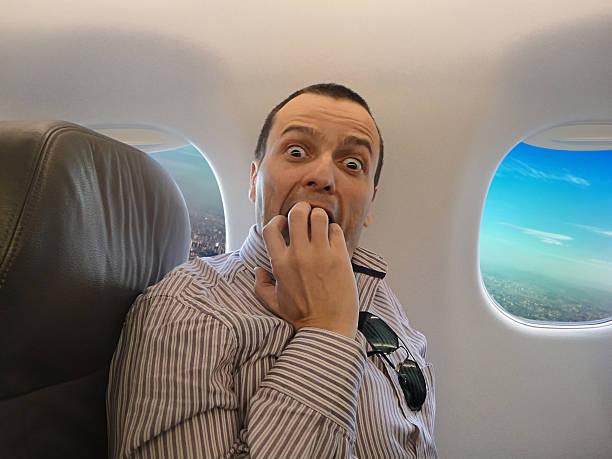 fear of flying - pteromerhanophobia - 亂流 個照片及圖片檔