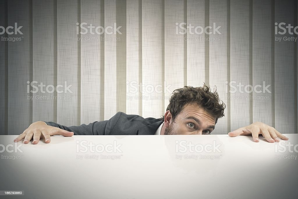 Fear of the boss stock photo