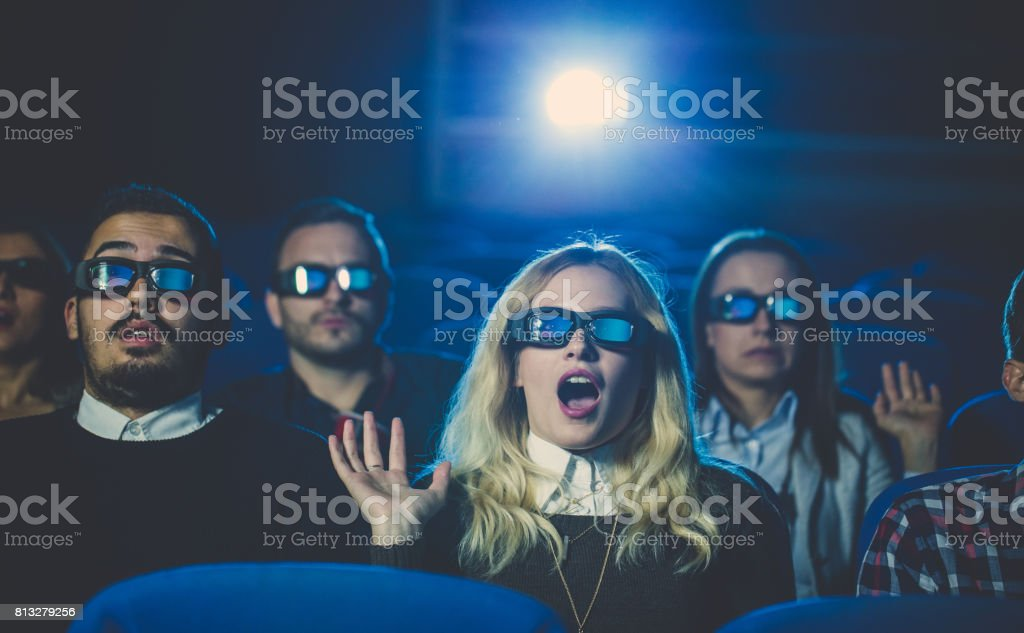 Fear of the movie stock photo