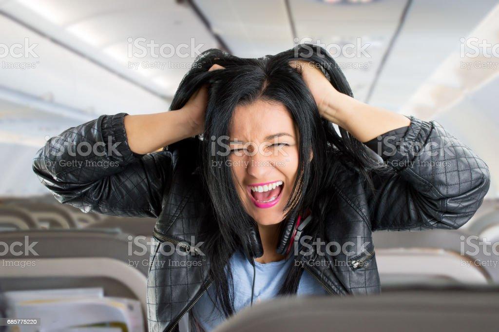 Angst zu fliegen Lizenzfreies stock-foto
