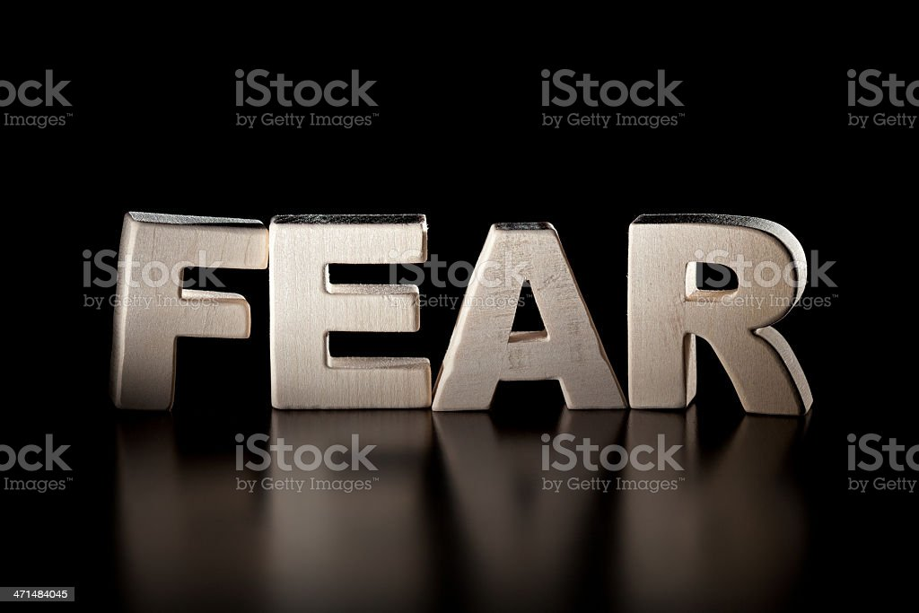 Fear, wood letter word royalty-free stock photo