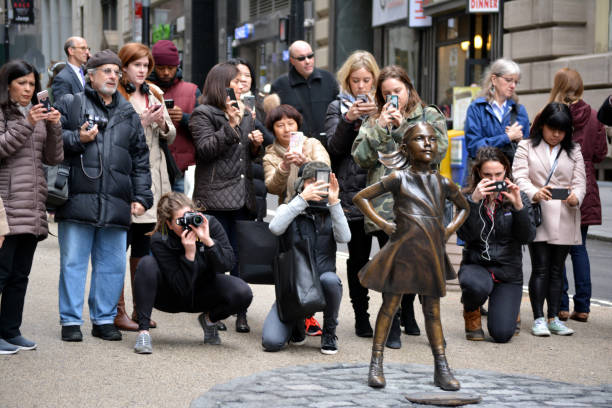 fearless girl - courage stock photos and pictures