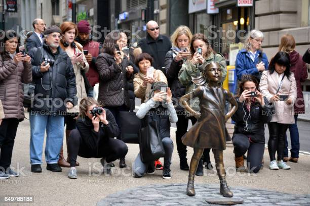 Fearless Girl Stock Photo - Download Image Now