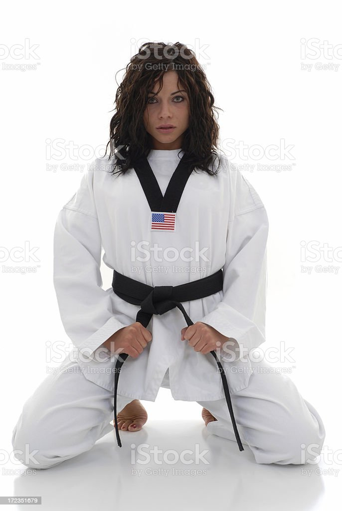 Fearless martial artist royalty-free stock photo