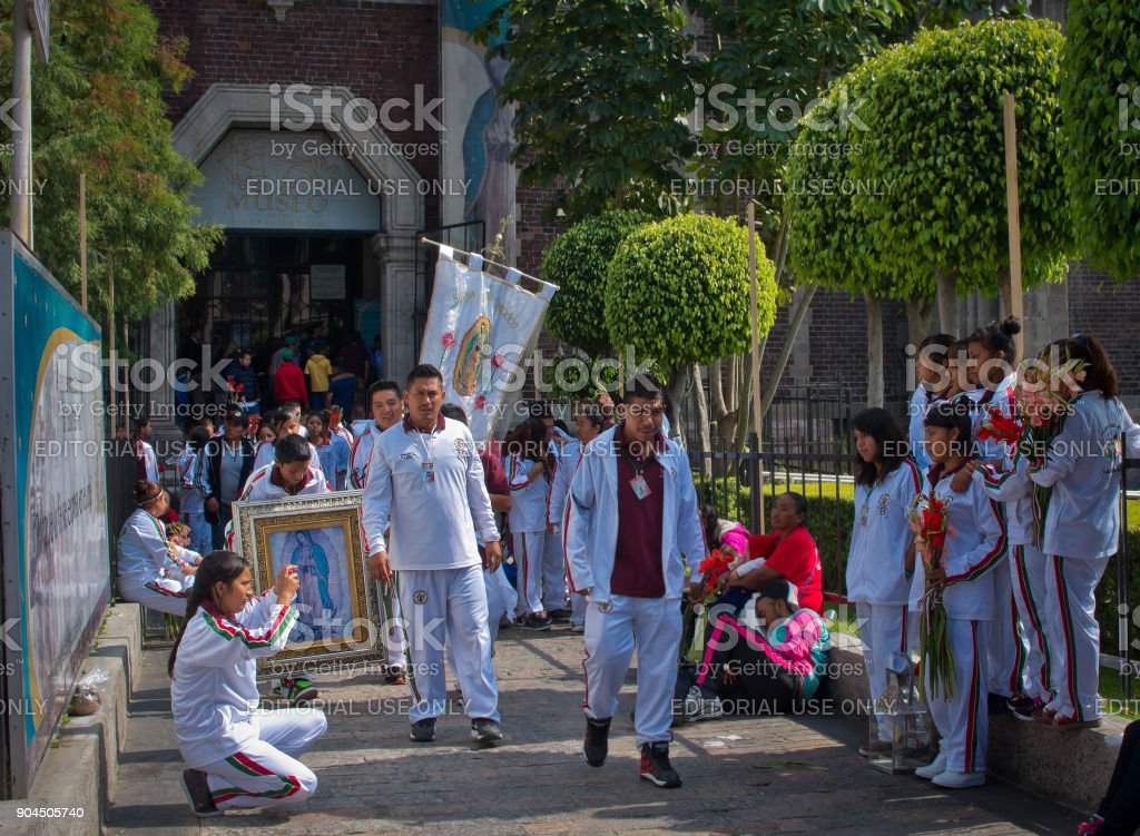 Feast of Our Lady of Guadalupe in Mexico City stock photo