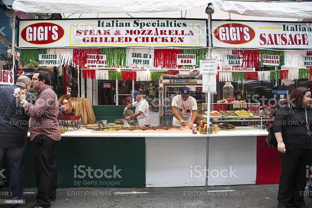Feast of San Gennaro New York City royalty-free stock photo