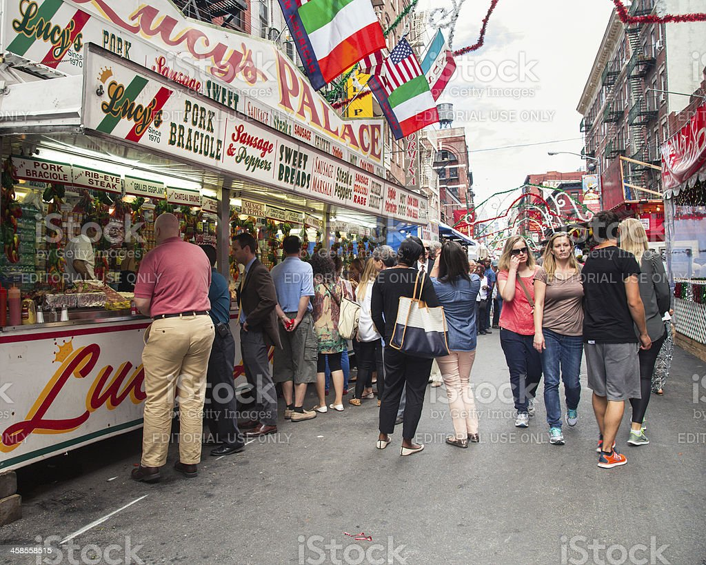 Feast of San Gennaro New York City royalty-free stock photo