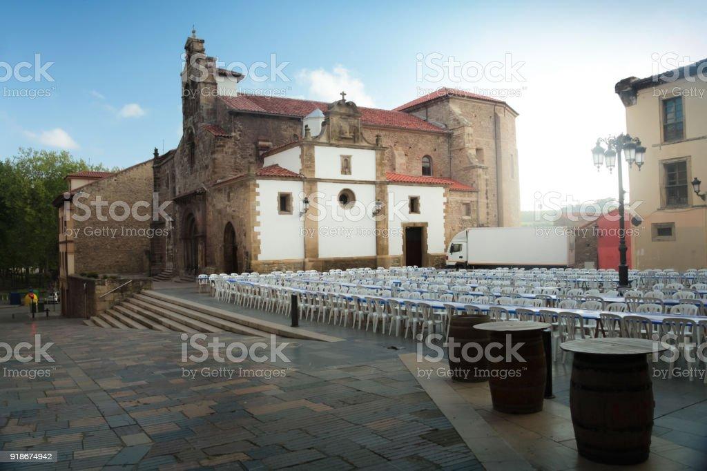 Feast of the Bollo in Aviles. Spain - foto stock