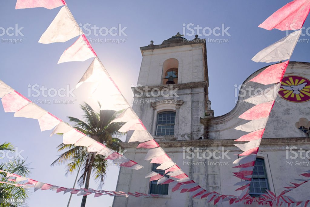 Festa do Divino - Itanhaém, Brazil royalty-free stock photo