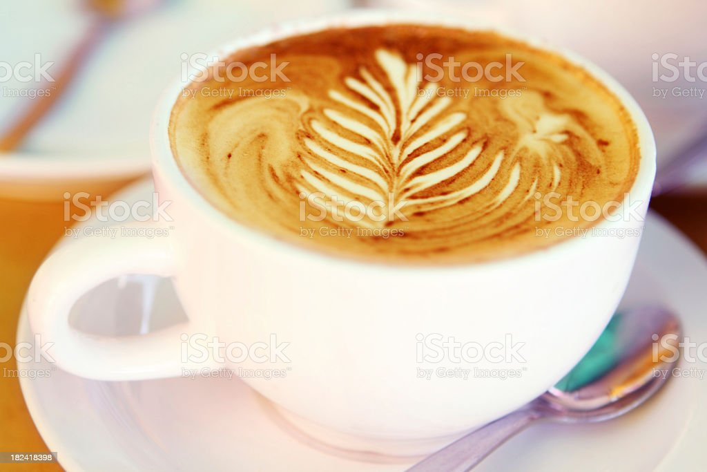 Feather Coffee royalty-free stock photo