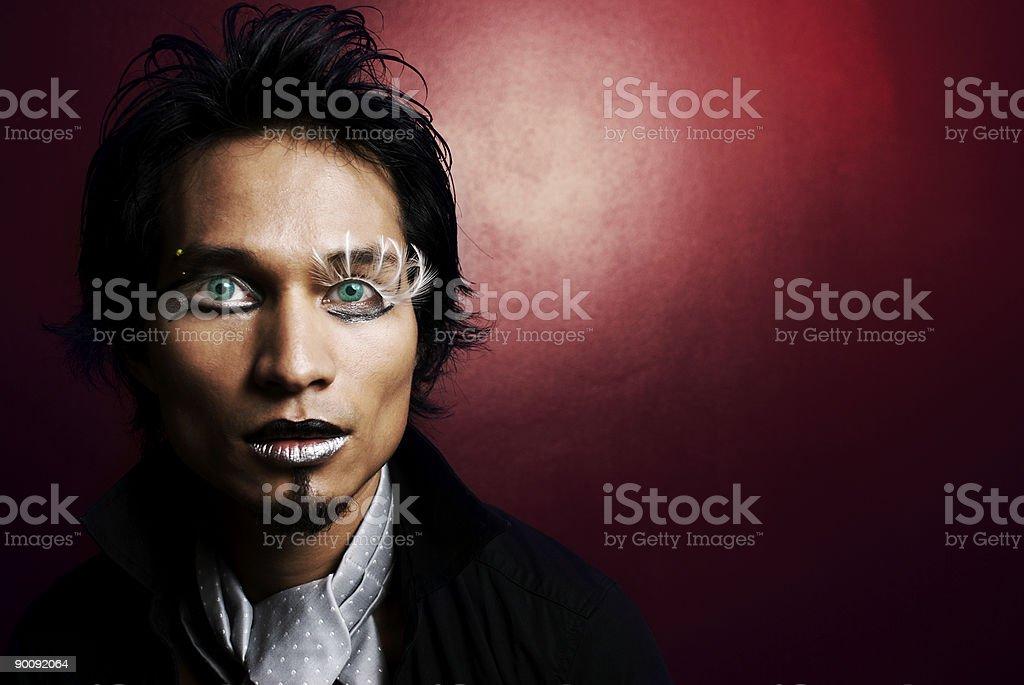 Feather eyelash royalty-free stock photo