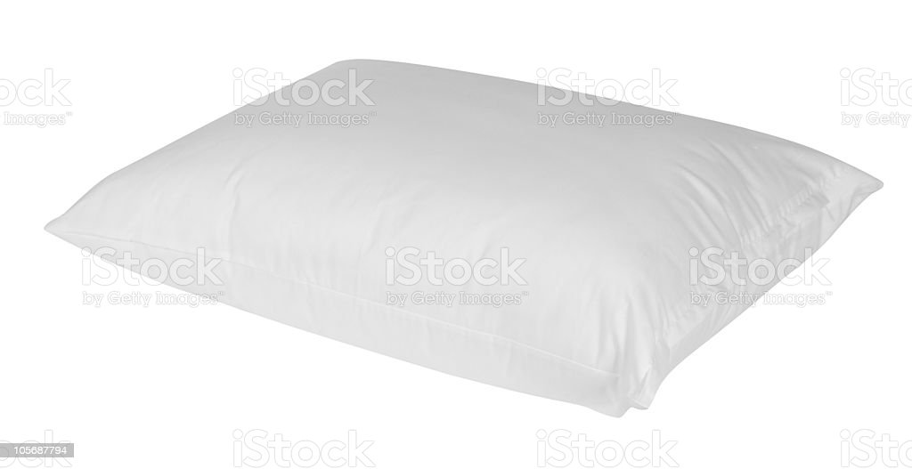 Feather pillow. Isolated royalty-free stock photo