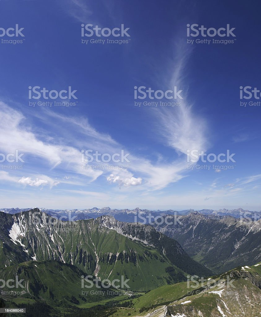 feather shaped cloud royalty-free stock photo