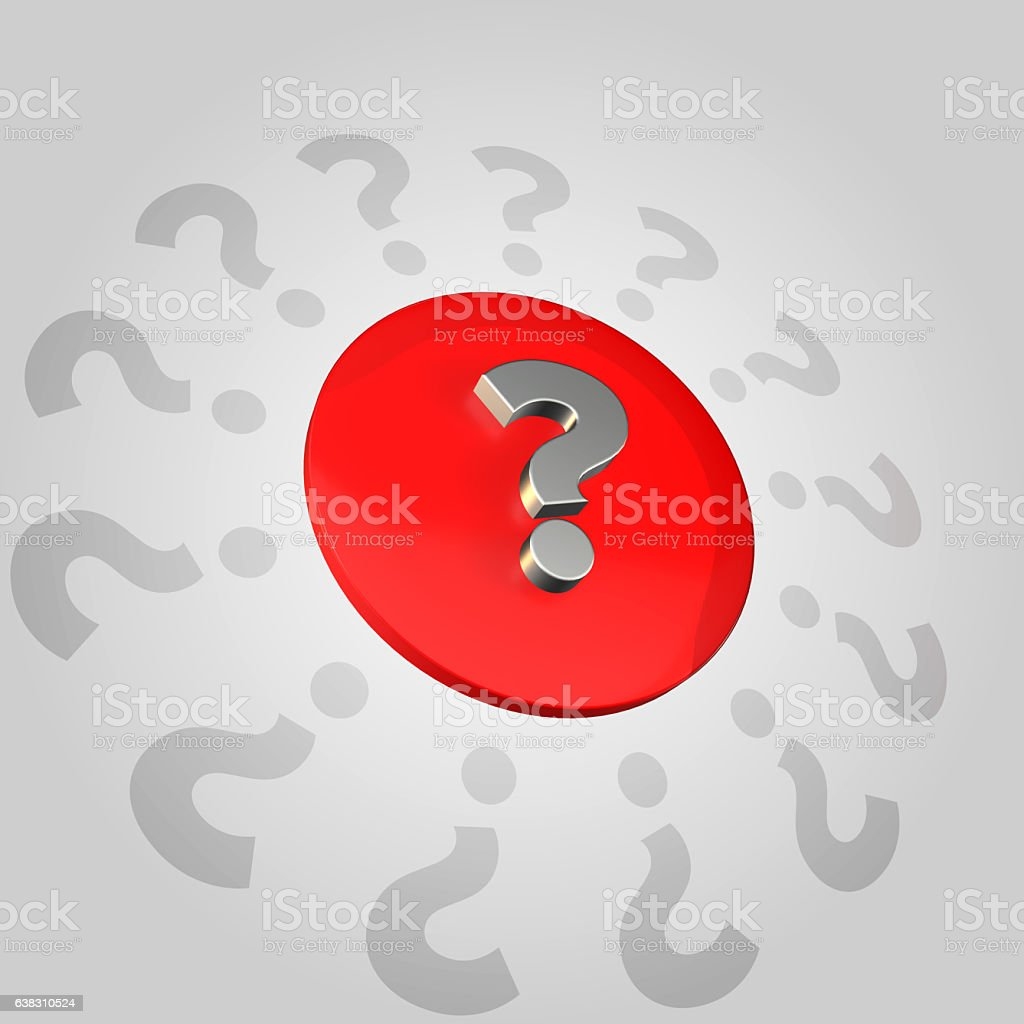 Featured Question Mark stock photo