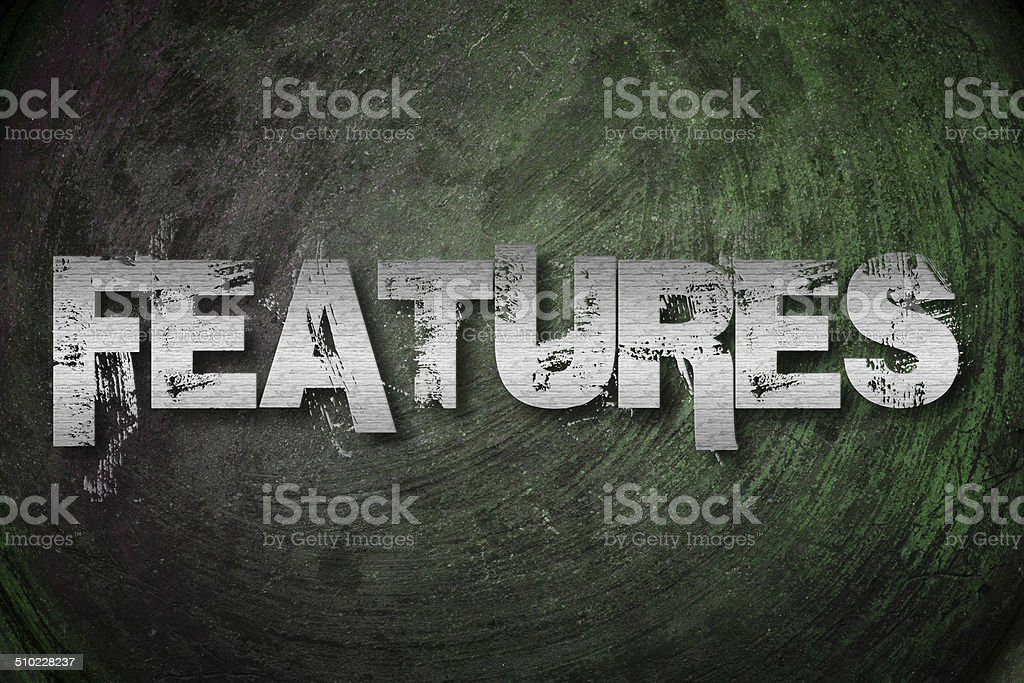 Features Concept stock photo