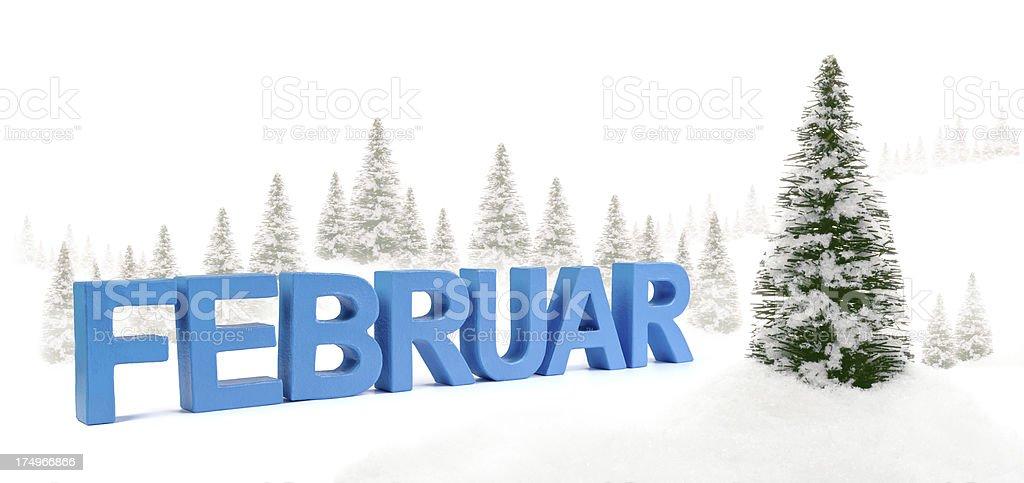 Februar - german word for February royalty-free stock photo