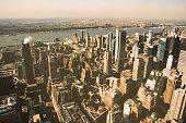 NEW YORK, USA. February 2009. panoramic view of manhattan island from the empire state