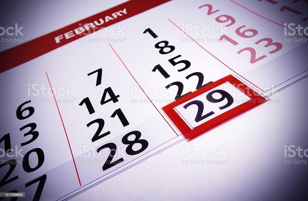 February 29 royalty-free stock photo