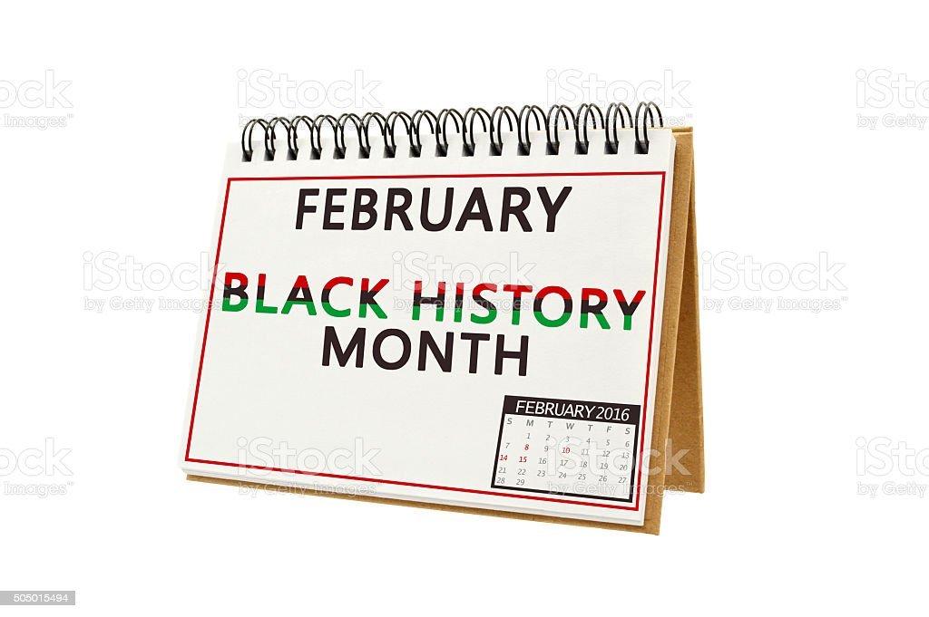 February Black History Month Calendar stock photo