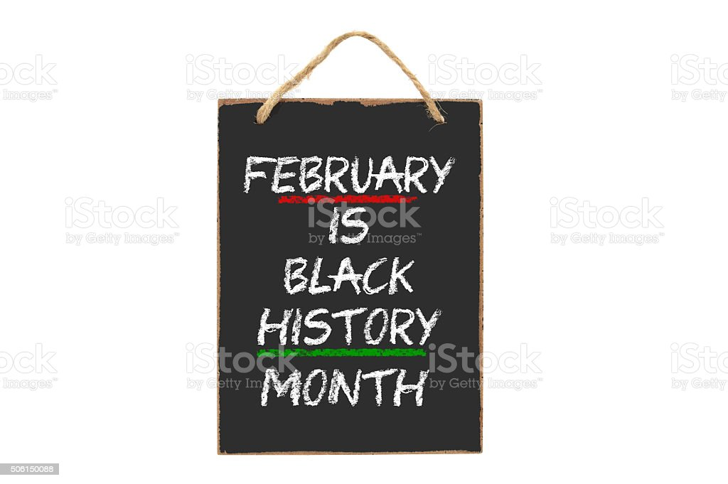 February Black History Month stock photo