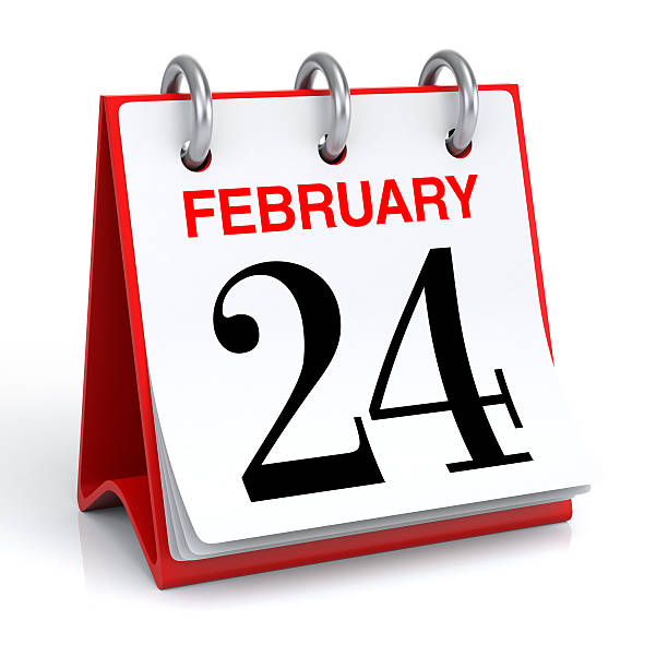 calendrier de février - nombre 24 photos et images de collection