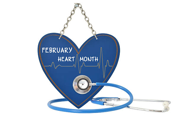 february heart month - month stock photos and pictures