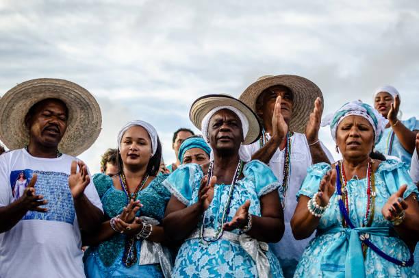02 February, Iemanjá Day in Salvador, Bahia stock photo