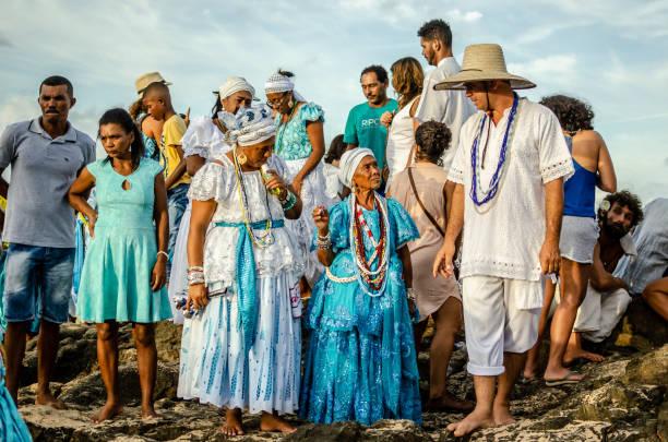 02 February, Iemanjá Day in Salvador da Bahia stock photo