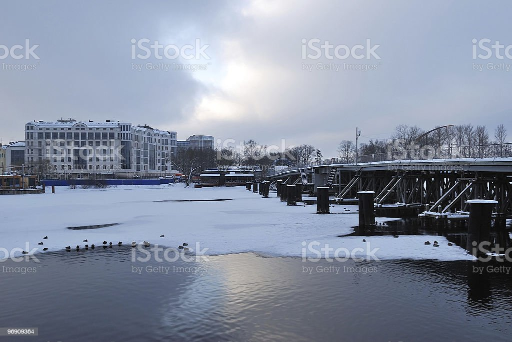 February in St. Petersburg royalty-free stock photo