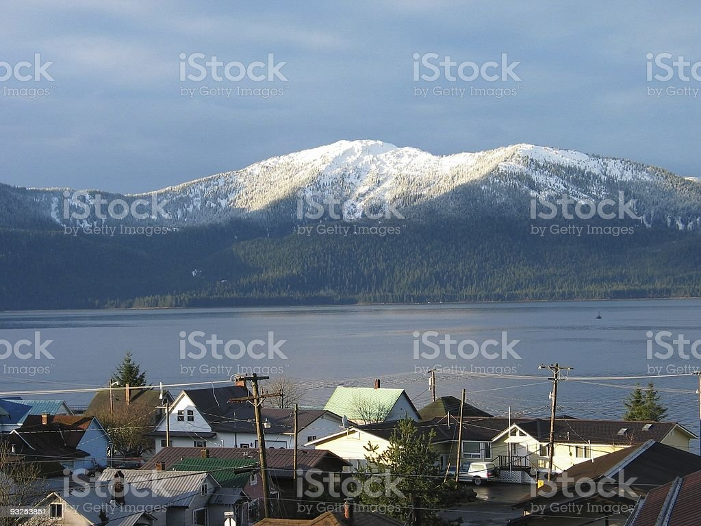 February Morning in Alaska royalty-free stock photo