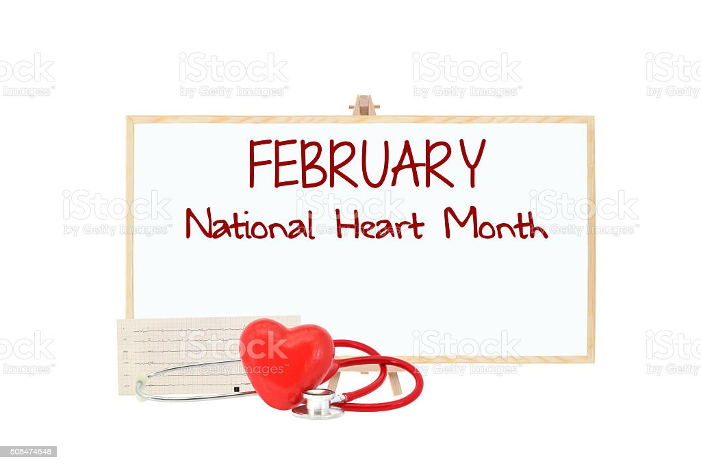 February National Heart Month stock photo