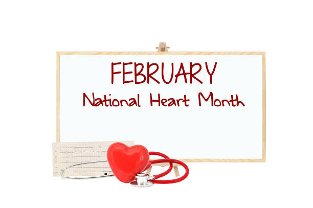 february national heart month - february stock photos and pictures