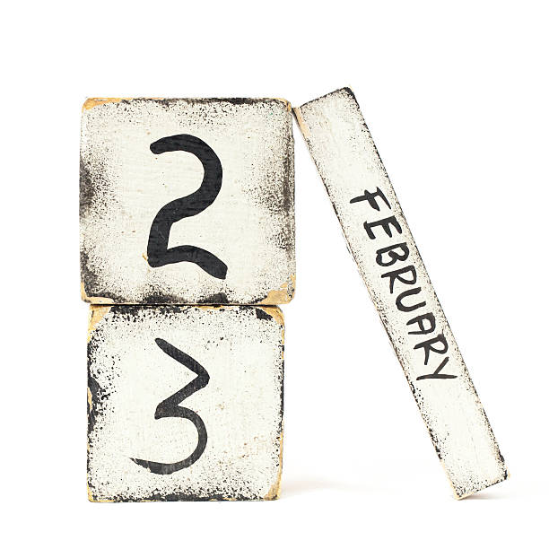 february twenty three - number 23 stock photos and pictures