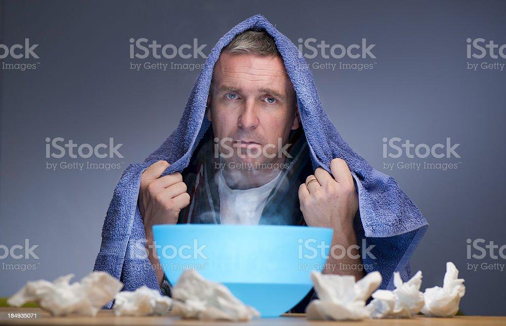 fed up flu man royalty-free stock photo