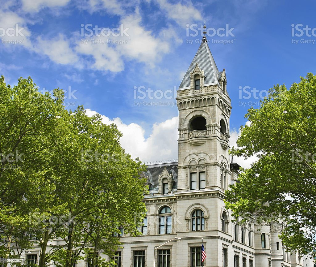 Federal Building and Post Office in Brooklyn, New York City. royalty-free stock photo