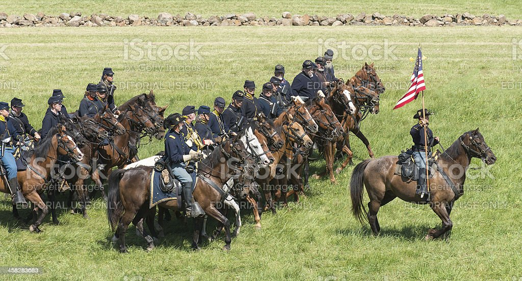 Federal Cavalry stock photo