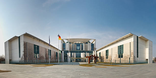 Federal Chancellery (Chancellery) in Berlin, Germany stock photo