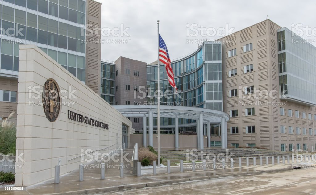 Federal Courthouse in Jackson, Mississippi stock photo
