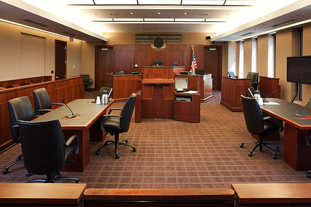 Federal Courtroom.  courtroom stock pictures, royalty-free photos & images