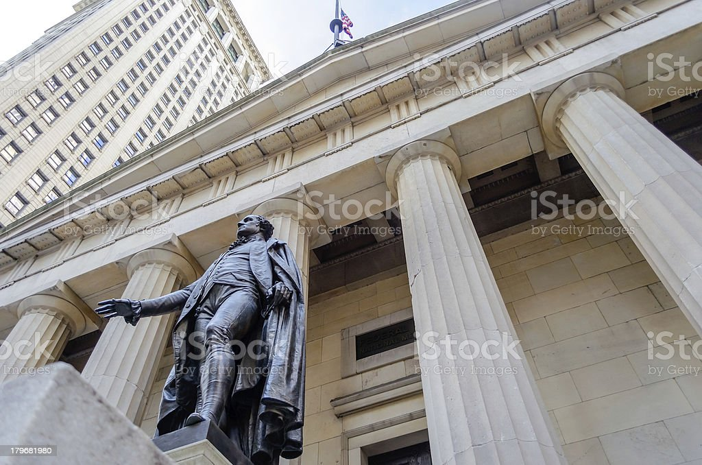 Federal Hall, New York City stock photo