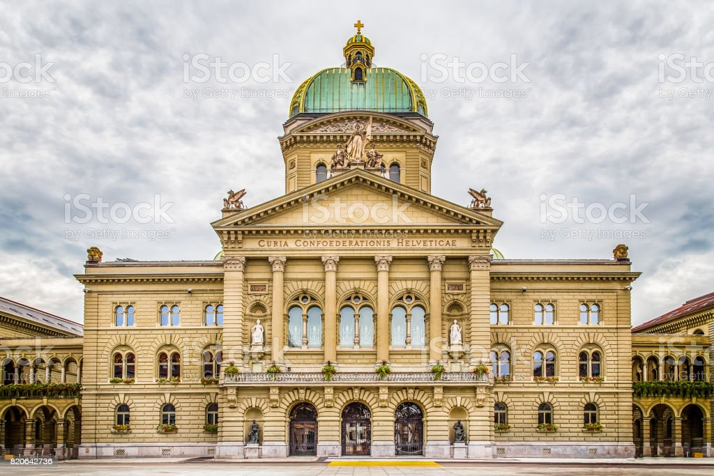 Bundeshaus, Bern, Switzerland stock photo