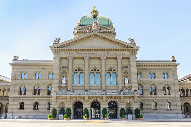 Federal Palace of Switzerland, Bern, capital city of Switzerland stock photo